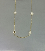 14 Karat Yellow Gold Diamond Choker (0.20ct)