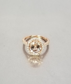 14 Karat Rose Gold Morganite Diamond Ring (2.22/0.31ct)