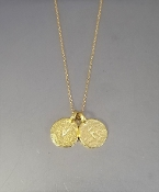 14 Karat Yellow Gold Initials Necklace