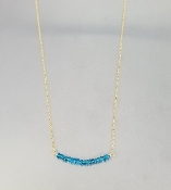 Apatite Bar Necklace
