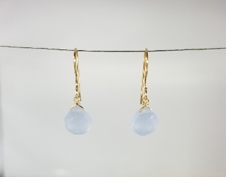 Blue Chalcedony Earrings (7mm)
