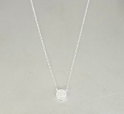 14 Karat White Gold Diamond Necklace (0.10ct)