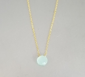 Chalcedony Necklace (5mm)