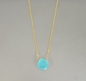 Baby Blue Chalcedony Necklace (8mm)