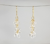 White Topaz Multi Drop Earrings