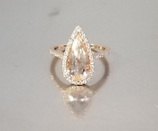 14 Karat Rose Gold Morganite Diamond Ring (2.32/0.35ct)