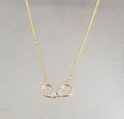 14 Karat Yellow Gold Diamond Handcuff Necklace (0.05ct)