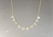 14 Karat Yellow Gold Multi Triangle Diamond Necklace (0.55ct)