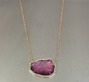 14 Karat Rose Gold Watermelon Tour. Dia. Necklace (9.10/0.27ct)