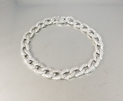 14 Karat White Gold Diamond Link Bracelet (2.32ct)
