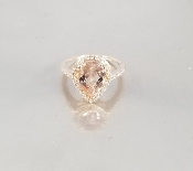 14 Karat Rose Gold Morganite Diamond Ring (2.36/0.30ct)