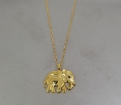 Black Diamond Elephant Necklace