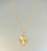 14 Karat Yellow Gold Diamond North Star Disc Necklace