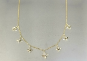 14 Karat Yellow Gold Multi Stardust Diamond Choker (0.15ct)