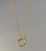 Circle Necklace (18KGP)