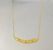 Yellow Sapphire Bar Necklace