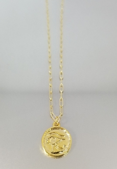 14 Karat Yellow Gold Eye of Horus Necklace