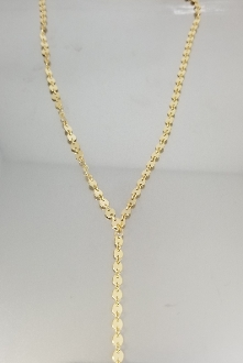 Disc Lariat Necklace (14KGF)