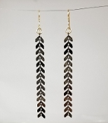 Chevron Links Long Earrings