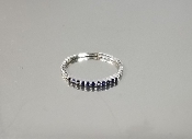 14K White Gold Blue Sapphire Ring (.14ct)