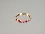 14K Rose Gold Ruby Ring (.14ct)
