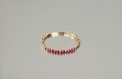 14K Rose Gold Ruby Ring (.22ct)