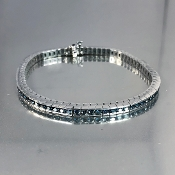 14 Karat White Gold Blue Diamond Bracelet (19.10ct)