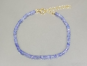 Tanzanite Beaded Bracelet (2.5mm)