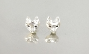 Black Diamond Fox Stud Earrings