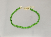 Tsavorite Beaded Bracelet