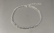 14 Karat White Gold Twist Diamond Cut Ball Bead Bracelet