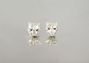 Black Diamond Black Panther Stud Earrings