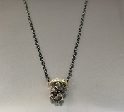 14 Karat Yellow gold Diamond Meteorite Necklace (0.22ct)