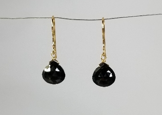 Black Spinel Earrings (6x6mm)