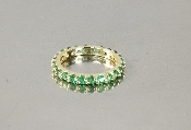 14 Karat Yellow Gold Colombian Emerald Eternity Band (1.40ct)