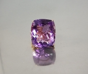 14 Karat Rose Gold Amethyst Diamond Ring (64.72/1.50ct)