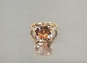 14 Karat Rose Gold Morganite Diamond Ring (6.43/0.27ct)