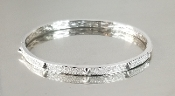 14 Karat White Gold Diamond Spike Bangle (1.0ct)