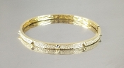 14 Karat Yellow Gold Diamond Bangle (1.0ct)