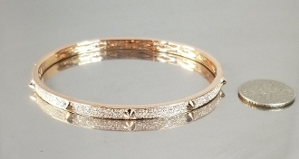14 Karat Rose Gold Diamond Spike Bangle (1.0ct)