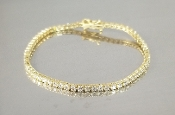 14 Karat Yellow Gold Diamond Tennis Bracelet (3.65ct)