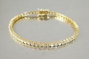14 Karat Yellow Gold Diamond Tennis Bracelet (4.78ct)