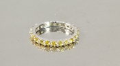 14 Karat Yellow Gold Yellow Sapphire Eternity Band (1.46ct)