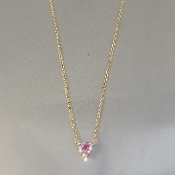 14 Karat Yellow Gold Heart Shaped Pink Sapphire-N (0.15ct)