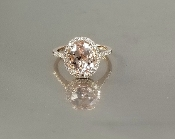 14 Karat Rose Gold Morganite Diamond Ring (2.70/0.27ct)