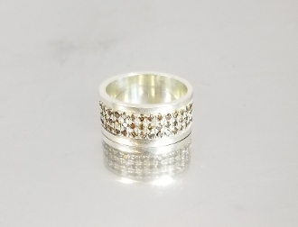 Champagne Diamond Ring (Silver) 1.2ct
