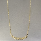 Chain Bar Necklace (14KGF)