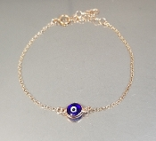 Dark Blue Evil Eye Bracelet