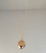 18 Karat Rose Gold Plated Locket