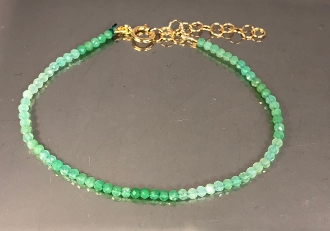 Chrysoprase Beaded Bracelet